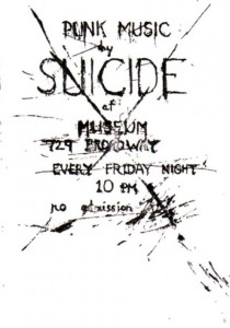 SUICIDE band flyer