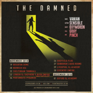 Damned UK tour poster