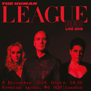 Human League red live poster