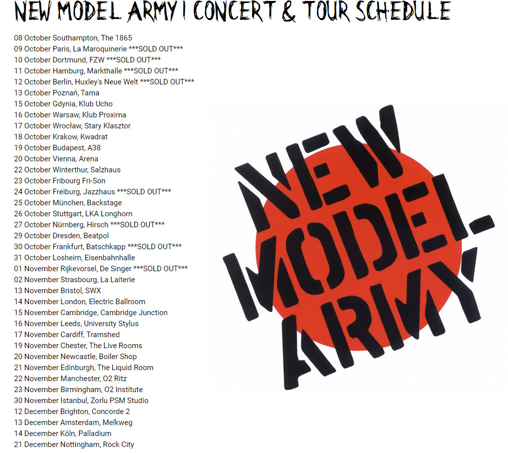 New Model Army tour